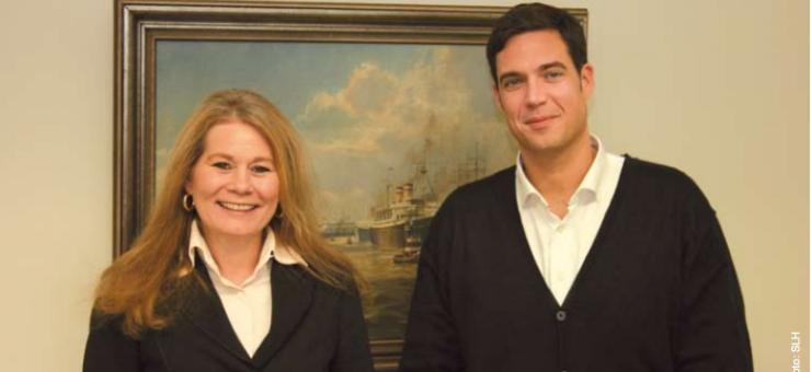 Marina Westphal und Jan Kristian Langfeldt leiten die neue Spedition von der Hamburger Wendenstraße aus